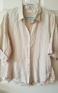 Chico's Linen Blouse
